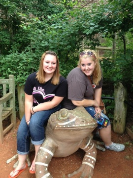 Kirsten and Elizabeth posing beautifully on the frog. Many InstaGram pics were shared with friends that day. I just love their smiles!