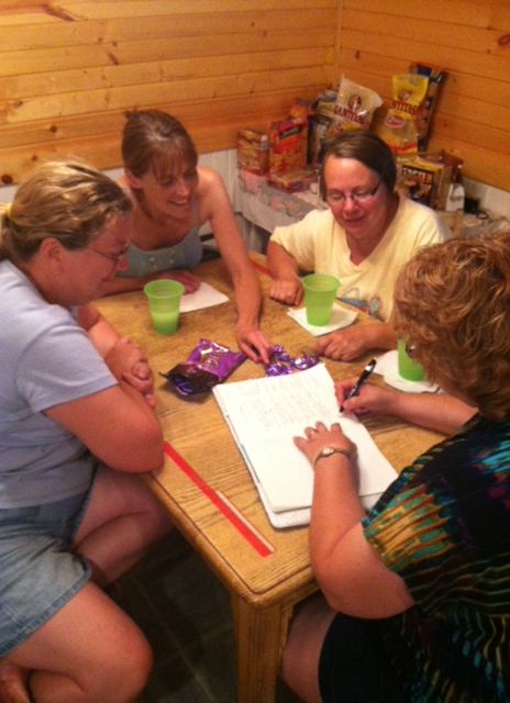 The BONS are around the table, adding ideas, sparking rhythms and choice words.