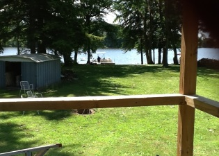 The lake view refreshes us. Sitting on the porch, we share, laugh, and relax.