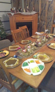 My sister-in-law is an awesome hostess. We are now treated to having family near by for the holidays.