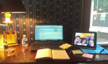 The desk I wrote at during the retreat. Loved it!!