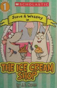I usually share a book when we meet, so I had a book treat for each. I LOVE ice cream, so this book captured some laughs. We celebrated my birthday with ice cream bars afterwards. :)