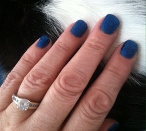 Beautiful blue! My hands remind me of mothering and the memories held.